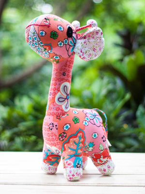 Pink Lagoon Giraffe Fabric Plush Toy