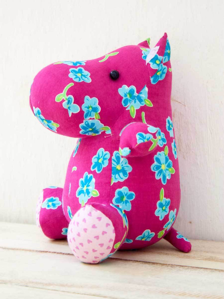Hallie the Hippo Fabric Plush Toy - Pinklay