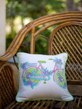 Heavenly Ride Hand Block Print Cotton Cushion Cover (12 Inch) - Pinklay