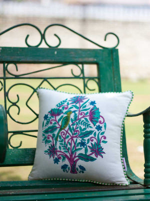 Jaipur Hand Block Print Cotton Cushion Cover - 12 Inch