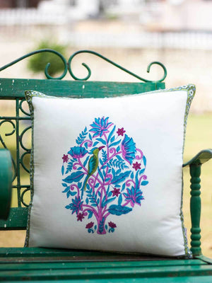 Jaipur Hand Block Print Cotton Cushion Cover - 16 Inch - Pinklay