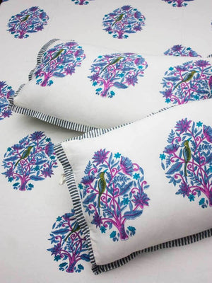 Jaipur Hand Block Print Cotton Pillow Cover - Set of 2