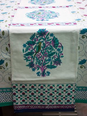 Jaipur Hand Block Print Cotton Table Runner - Pinklay