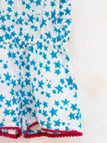 Blue Star Organic Cotton Jumpsuit with Pompoms - Pinklay