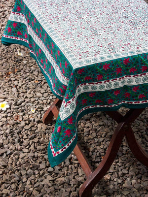 Kalpavriksha Hand Block Print Cotton Table Cover Table Cloths