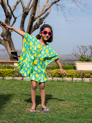 Pear Organic Cotton Kaftan for Kids - Pinklay
