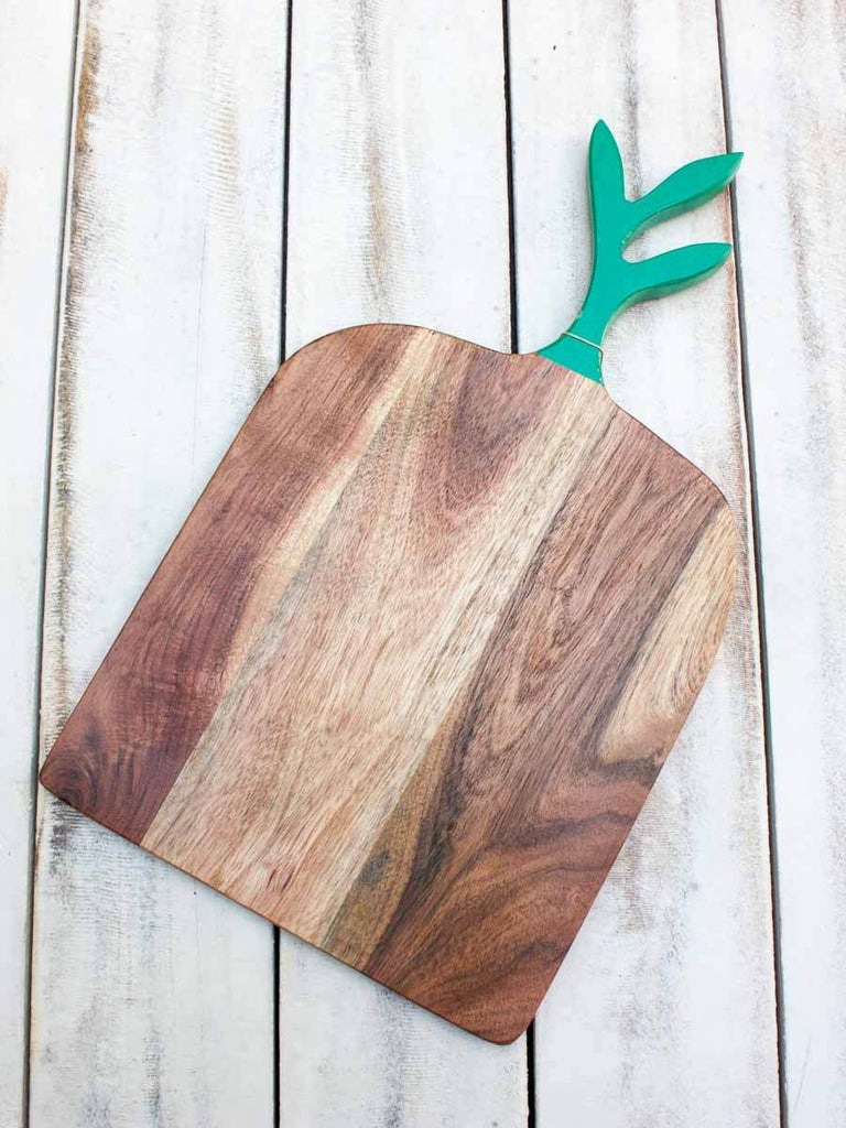 The Spring Leaf Wooden Platter / Chopping Board Wooden Tableware