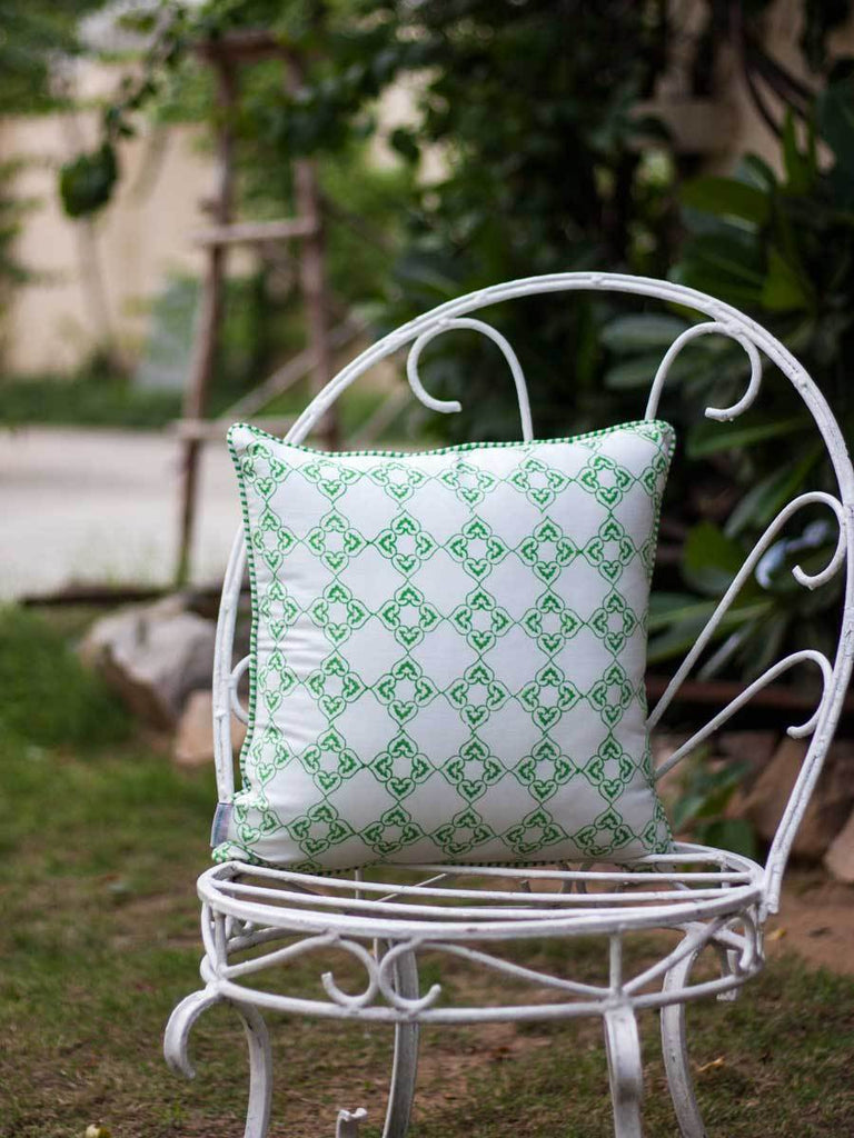 Mahotsav Hand Block Print Cotton Cushion Cover - 16 Inch - Pinklay