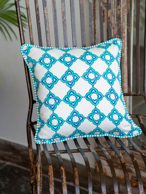 Mahtab Hand Block Print Cotton Cushion Cover - Pinklay