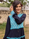 Mahtab Quilted Anarkali Jacket Dress - Pinklay