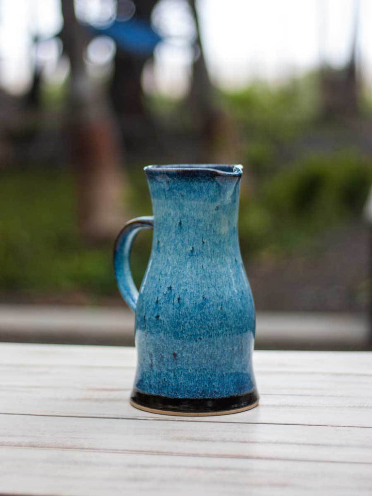 Midnight Blue Hand-Thrown Ceramic Jug - Large - Pinklay