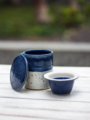 Midnight Hand-Thrown Ceramic Loose Leaf Tea Set - Pinklay