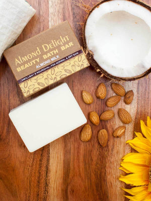 Almond Delight - Natural Handmade Bath Bar - Pinklay