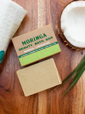 Moringa - Natural Handmade Bath Bar - Pinklay