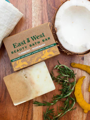 East & West - Natural Handmade Bath Bar - Pinklay