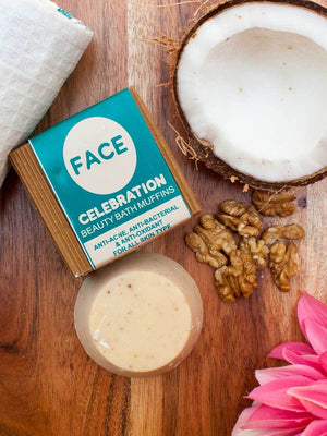 Face Celebration - Natural Handmade Bath Muffin - Pinklay