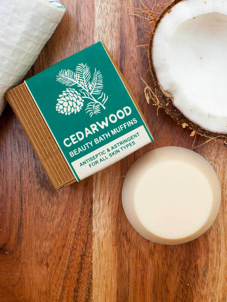 Cedarwood - Natural Handmade Bath Muffin Soaps