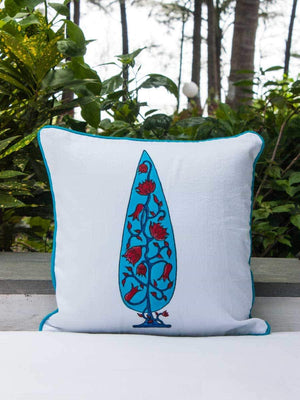 Nayaab Hand Block Print Double Side Printed Cotton Cushion Cover - 12 Inch Cushions