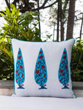 Nayaab Hand Block Print Double Side Printed Cotton Cushion Cover - 16 Inch Cushions