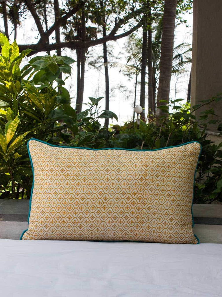 Nayaab Buta Hand Block Print Double Side Printed Cotton Cushion Cover - 12 X 20 Inch Cushions