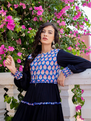Noor Quilted Anarkali Jacket Dress