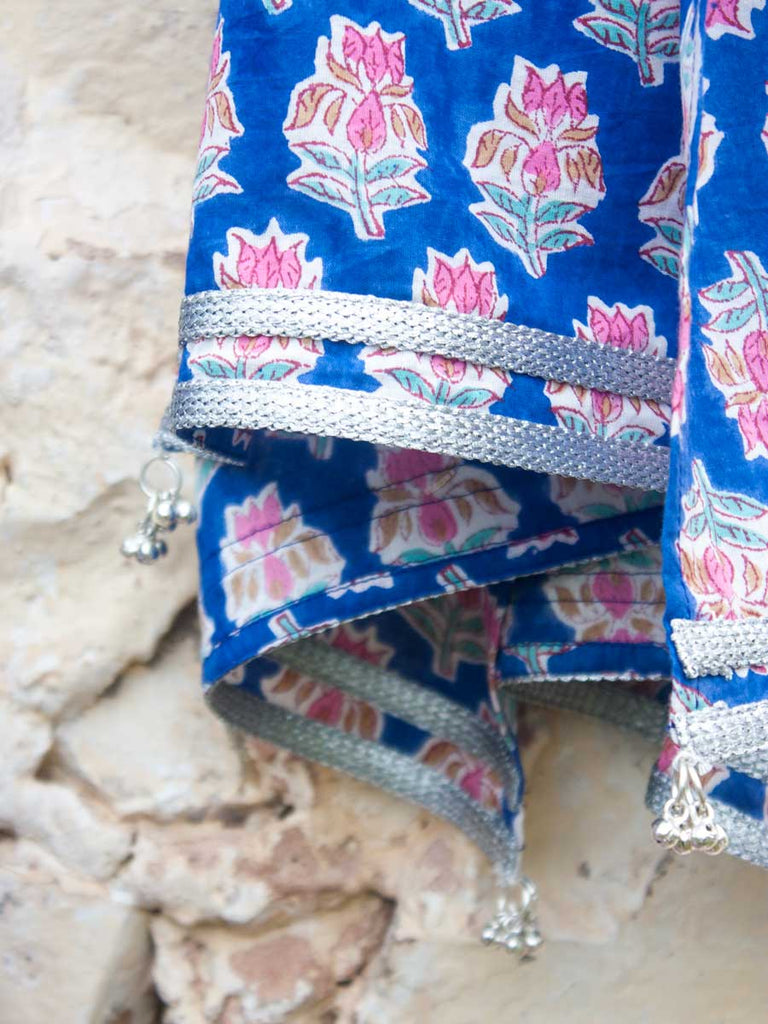 Noor Cotton Silk Lehanga Set of 4 - Pinklay