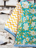 Ocean Wave Chevron Cotton Lehanga Set of 4 - Pinklay