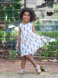 Lighthouse Organic Cotton Dress with a Pocket Kids Clothing