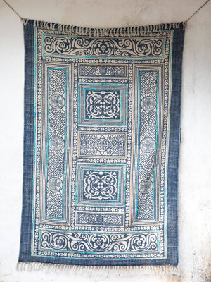 Palace Grounds Emboidered Dhurrie Rug