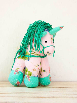 Pink Blossom Unicorn Fabric Plush Toy - Pinklay