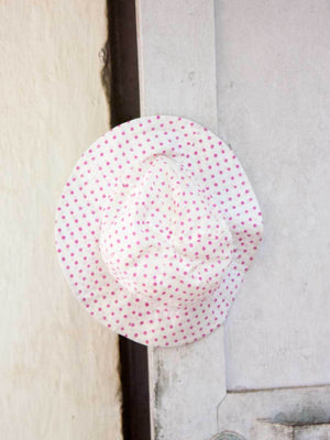 Pink Polka Organic Cotton Hat - Pinklay