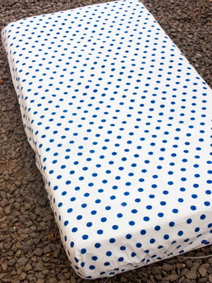 Polka Cotton Cot/Crib Fitted Sheet - Pinklay