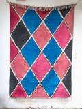 Carnival Hand Painted Cotton Dhurrie Rug - Pinklay
