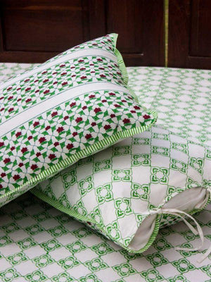 Rangoli Hand Block Print Cotton Pillow Cover - Set of 2 Pillow Covers