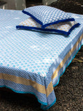 Sitara Hand Block Print Cotton Bed Sheet Set With Complementing Pillow Covers