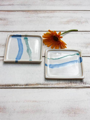 North Star Tapas Square Platter - Set of 2 Ceramics
