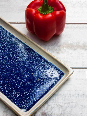 Rectangle Midnight Blue Tray Platter Ceramics
