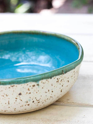 Waterfall Uneven Round Ceramic Bowl - Large Ceramics
