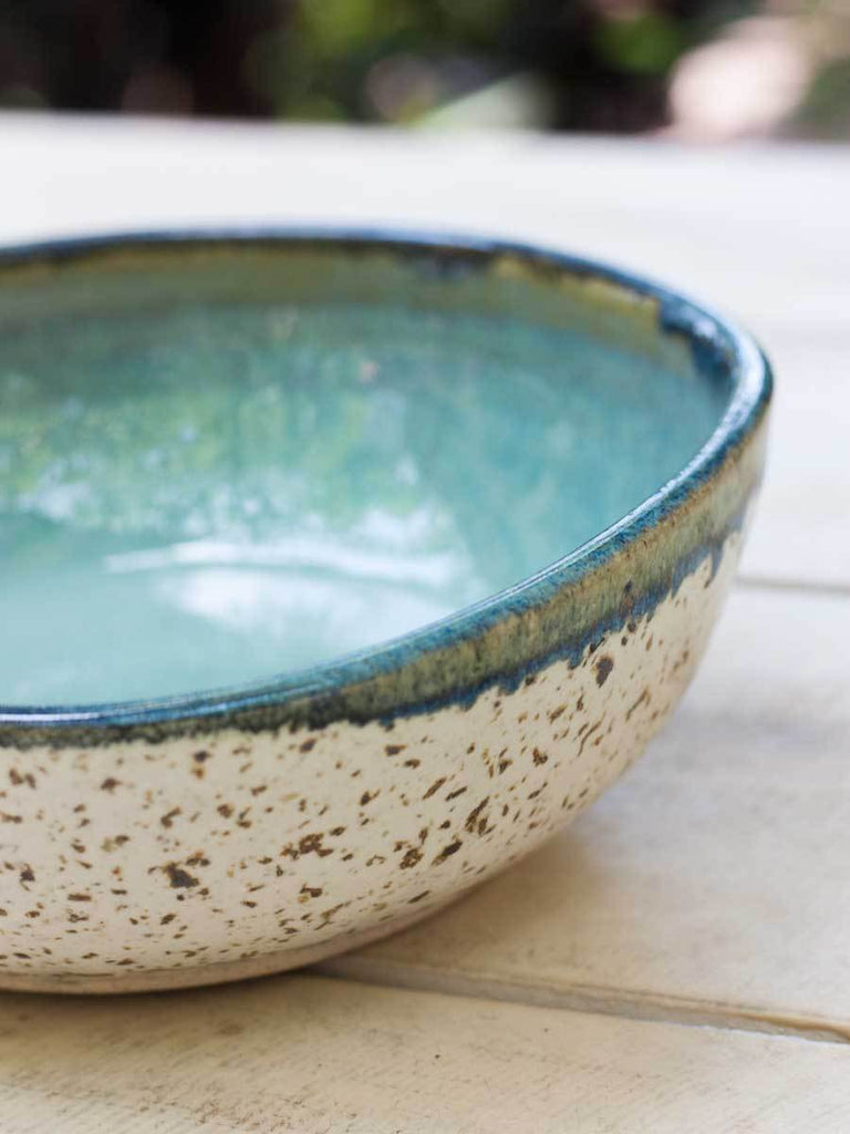 Ocean Uneven Round Ceramic Bowl - Large - Pinklay