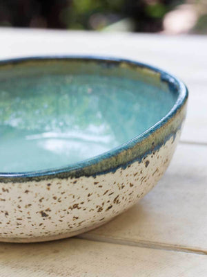 Ocean Uneven Round Ceramic Bowl - Large