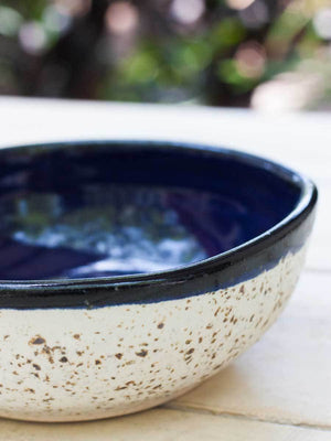 Milky Way Uneven Round Ceramic Bowl - Large Ceramics