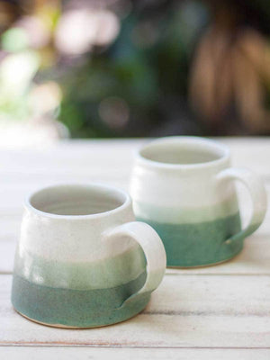 Mint Trifecta Coffee Mug - Set of 2 Ceramics