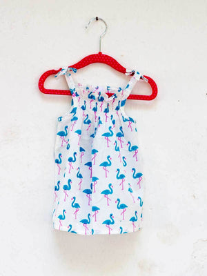 Turquoise Flamingo Organic Cotton Top - Pinklay