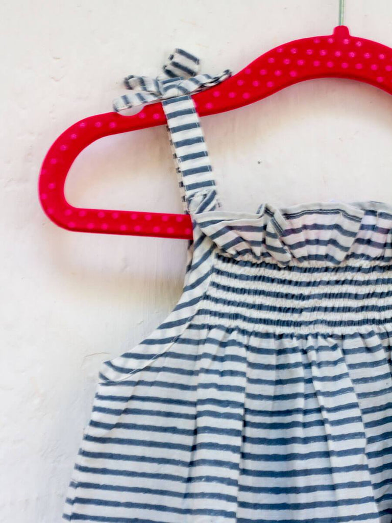 Grey Stripes Organic Cotton Top Kids Clothing