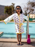 Unicorn Premium Waffle Cotton Bath Robe - Pinklay