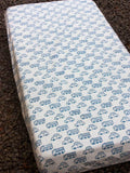 Vroom Vroom Cotton Cot/Crib Fitted Sheet - Pinklay