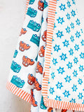 Vroom Vroom GOTS Certified Organic Cotton Reversible Dohar Blanket - 0-2 Yrs New Kids Collection
