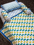 Vroom Vroom GOTS Certified Organic Cotton Cot Bedding Set of 6 New Kids Collection
