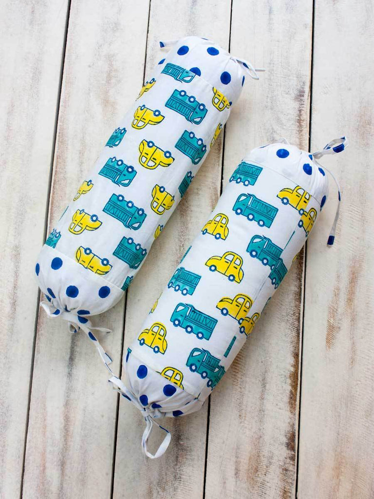Vroom Vroom Organic Cotton Infant Bolster - Set of 2 New Kids Collection