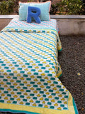 Vroom Vroom GOTS Certified Organic Cotton Reversible Single Bed Quilt - Pinklay